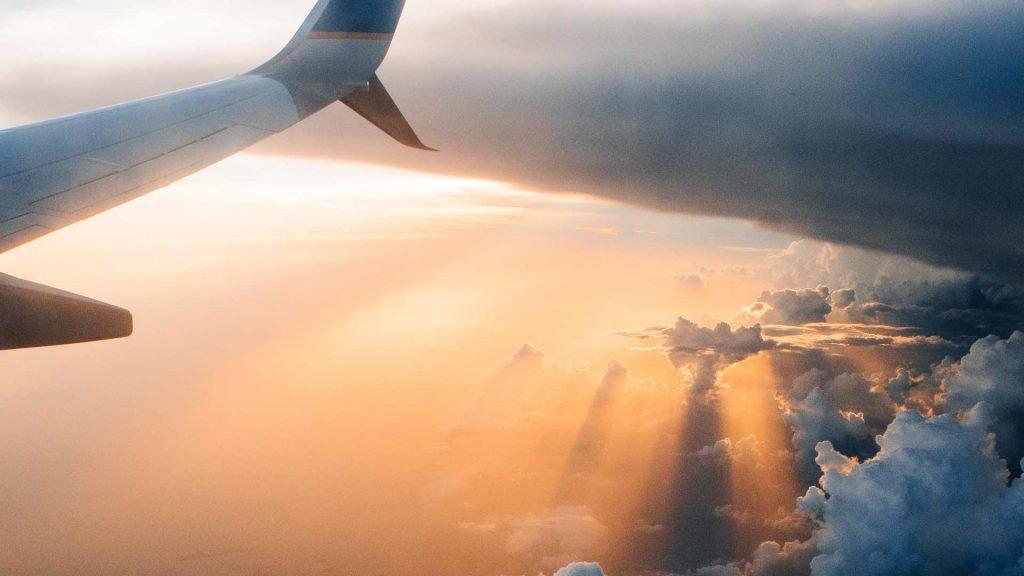 Aeroplane flying to Australia