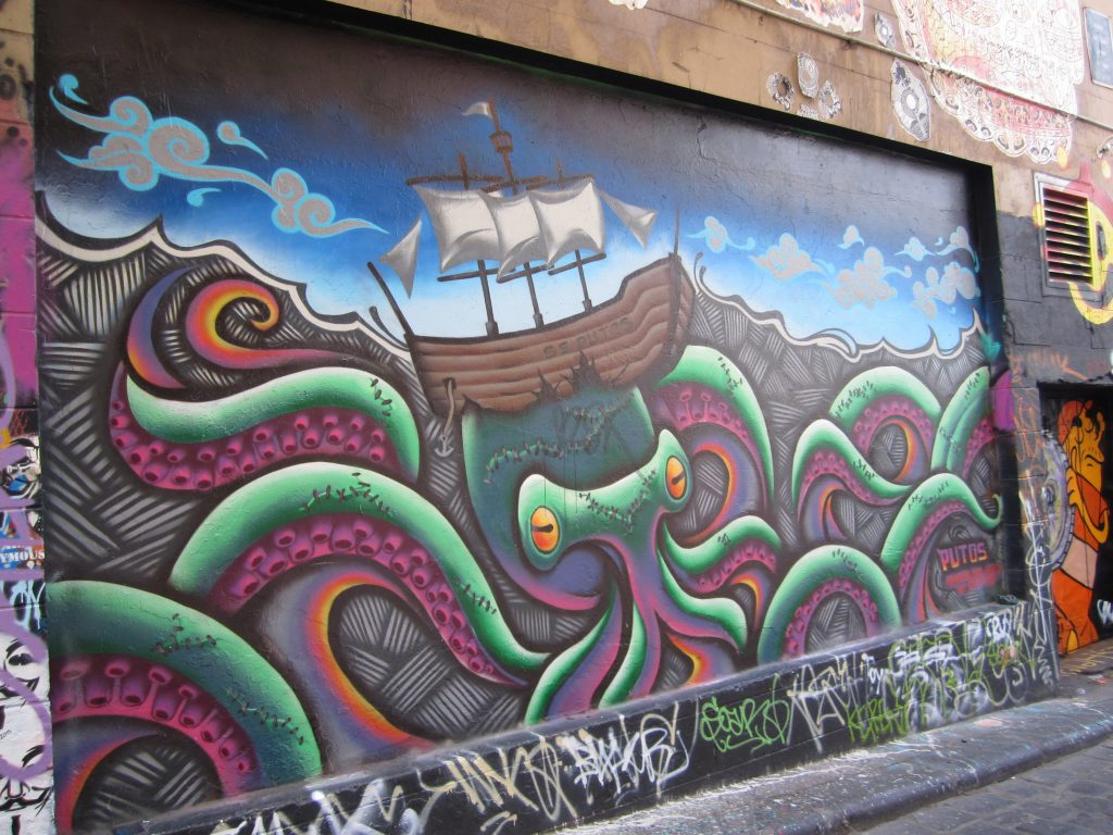 Hosier Lane Melbourne - Street Art.